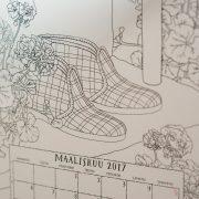 Väritettävä kalenteri vuodelle 2017